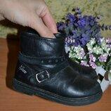 Кожаные ботинки 24 размер, демисезонные ботинки, кожаные ботинки, ботинки, детская кожаная обувь