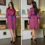 Стильное модное красивое платье размеры 48 56