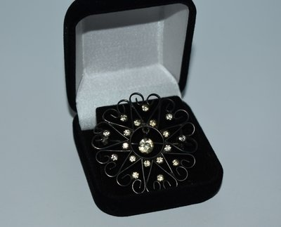 красивая брошь серебро 875 проба звезда камни патина ссср вес 5,7 грамм винтаж