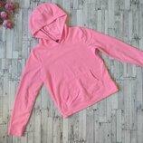 Теплая кофта толстовка George на девочку с капюшоном розовая