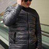 Мужская куртка 730 Ткань - турецкая плащевка на синтипоне 100 Очень легкая Цвет- серый Высоко