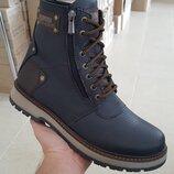 Мужские кожаные ботинки ZG 136 ч ф