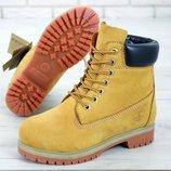 Женские ботинки Тимберленд Yellow. Демисезон.