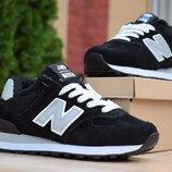 Зимние кроссовки New Balance 574 black