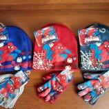 Шапка Человек Паук рукавички Дисней