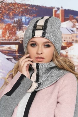 Комплект «Анжелина» шапка-колпак и шарф-хомут Артикул 4714-7