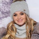 Комплект «Тияна» шапка и шарф-хомут Артикул 4905-7