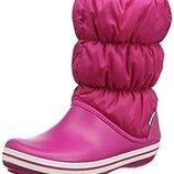 Crocs Winter Boot W8 сапоги крокс розовые зимние сапоги дутики