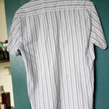 Рубашка мужская в полоску с коротким рукавом 48р
