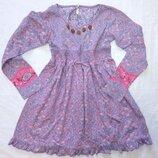 Хлопковое платье пр-во индия длинный рукав 100% хлопок сарафан