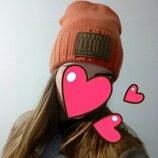 Крутая шапка urban style терракот кирпичный оранжевый