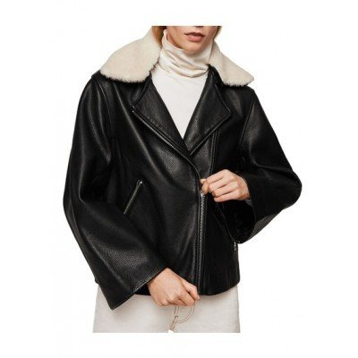 Кожаная женская куртка косуха Mango , новая с бирками размер S M