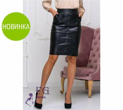 Модная юбка из кожзама Sharm 42 44 46 48