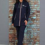 Женский спортивный костюм зимний, тёплый, с начесом, р-р 48-58
