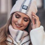 Комплект «Анжелина» шапка-колпак и шарф-хомут , 4714-7