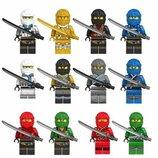 Фигурки, человечки, Ниндзяго лего, lego аналог 12штук
