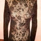 Кофточка блузка сеточка Пог 41 см фирмы Both dragon, б/у