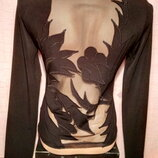 Кофточка блузка сеточка Пог 39 см фирмы King Land, б/у