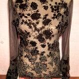Кофточка блузка сеточка размер 42, б/у