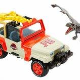 Jurassic World Набор машина и динозавр Птеранодон FNP46 Jeep Wrangler & Rescue Net