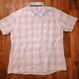 Стильная, легкая мужская рубашка, шведка из льна Boston Crew