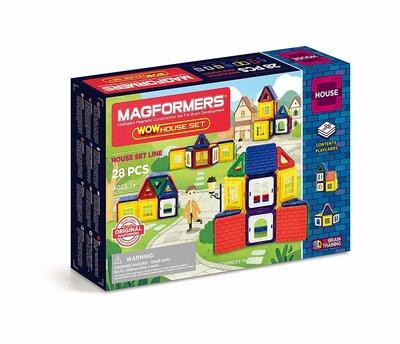 Magformers Магнитный конструктор дом 28 деталей 705007 Wow House Set 28
