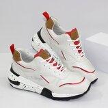 Классные белые кроссовки 20-635