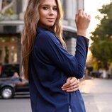 Блузка нарядная 42-56рр. софт Турция капучино молоко хаки синий марсалового