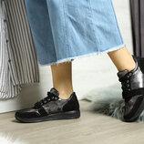 Стильные кожаные кроссовки в сочетании с замшей, кожа серебро