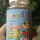 GummiKing, Мультивитаминны и минералы с овощами, фруктами и волокнами, для детей, 60 Шт gummi king