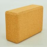 Йога блок пробковый 0831 блок для йоги пробковый размер 24x16,5x9см, вес 400г