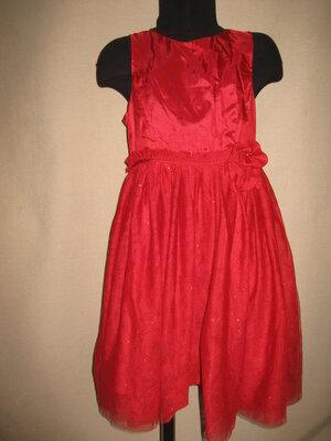 Яркое платье H&M 7-8л