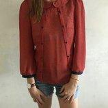 Стильная легкая блуза блузка в сердечках Atmosphere размер М
