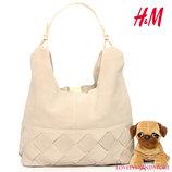 Сумка H&M PREMIUM QUALITY кожаная сумочка шоппер 100% замша и кожа хобо на плечо