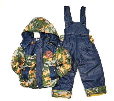 Детский демисезонный комбинезон куртка и штаны для мальчика хаки размеры от 1 до 6 лет 4143