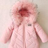 Куртки зимние для девочек 98-110
