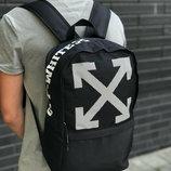 Рюкзак OFF WHITE городской мужской женский черный