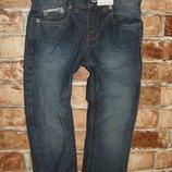 новые синие джинсы с утяжкой 2-3 года DOPO