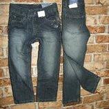 новые синие джинсы с утяжками 2-6 лет DOPODOPO