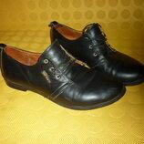 Кожаные туфли ULTRA MODA на девочку 36 размер