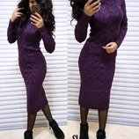 Вязаное платье,8 цветов