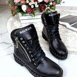 Женские ботинки Balmain кожаные