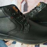 Ecco тёплые кожаные мужские зимние ботинки на шнурках сапоги мех качественные и стильные