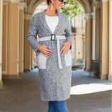 Пальто с накладными карманами букле деми, Размер 42-44, 46-48, 50-52, 54-56.