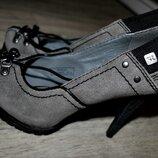 Продам туфли REPLAY серые итальянские замшевые кожаные 36 брендовые