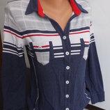 трикотажная рубашка блузка из вискозы и эластана Almax collection р. 46-48