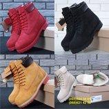 Зимние женские ботинки Тимберленд. Натуральный нубук. Большой выбор.