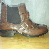 New look кожаные челси лоферы ankle loafer ботиночки 38 размер New Look