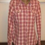 Женская рубашка в клетку М/l