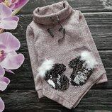 Шикарная теплая кофта-джемпер для девчонок